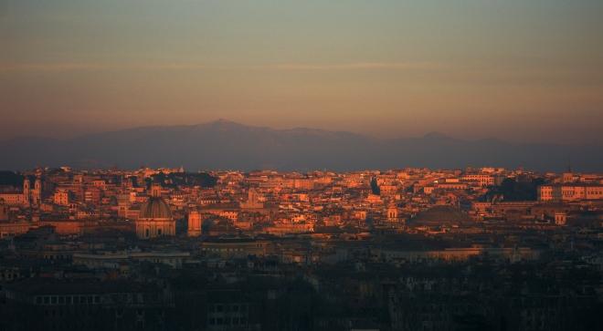Rome Gianicolo Sunset